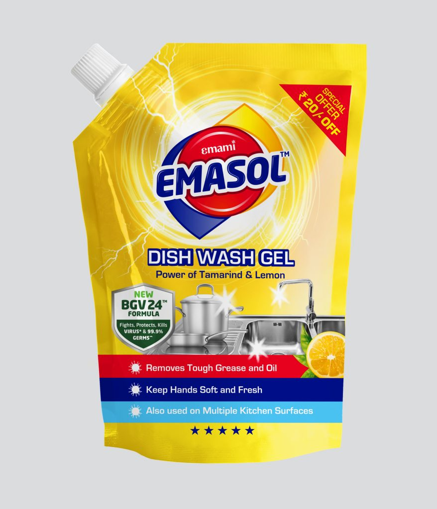 emami emasol dishwash gel refill pack 900ml